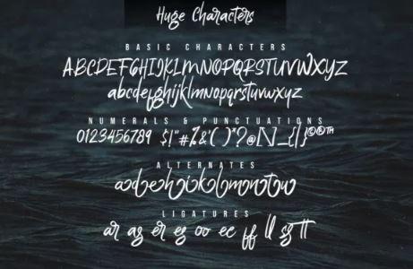 Huge Brush Script Font Free Download