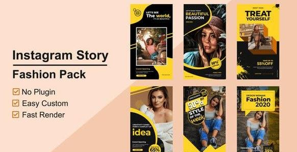 Videohive Fashion Instagram Stories V05 AE Project