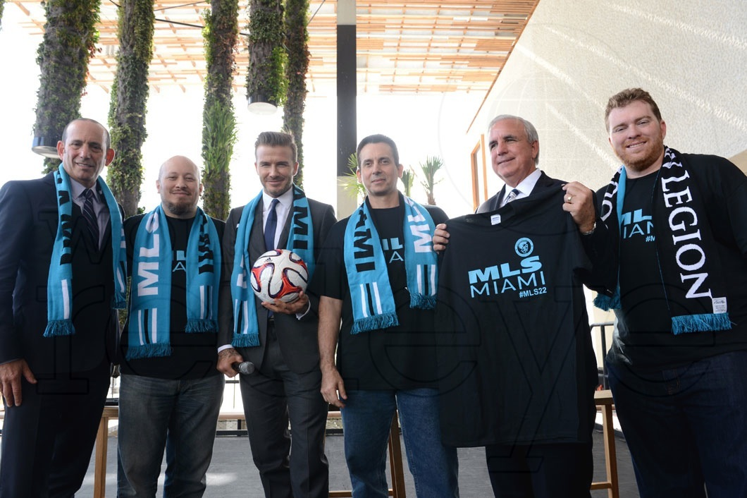 David Beckham Miami MLS Launch