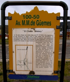 Chalten History Sign-1