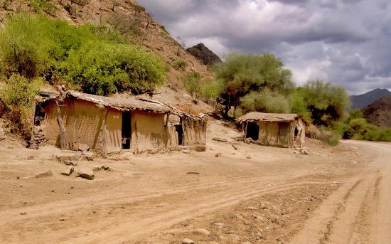 Dusty Homes Bolivian Road