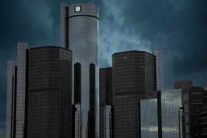 Detroit Skyline - GM Building