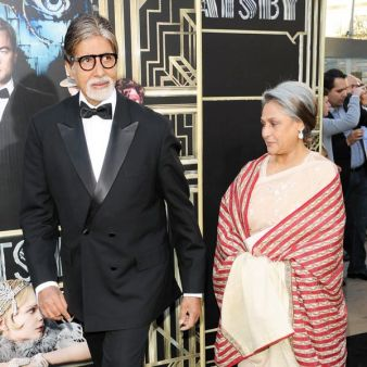 Amitabh Bachchan and wife Jaya Bachchan in NY at the premiere of The Great Gatsby