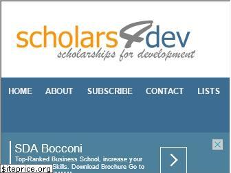 21 Scholars4Dev International Scholarships 2020-2021 | ONGOING