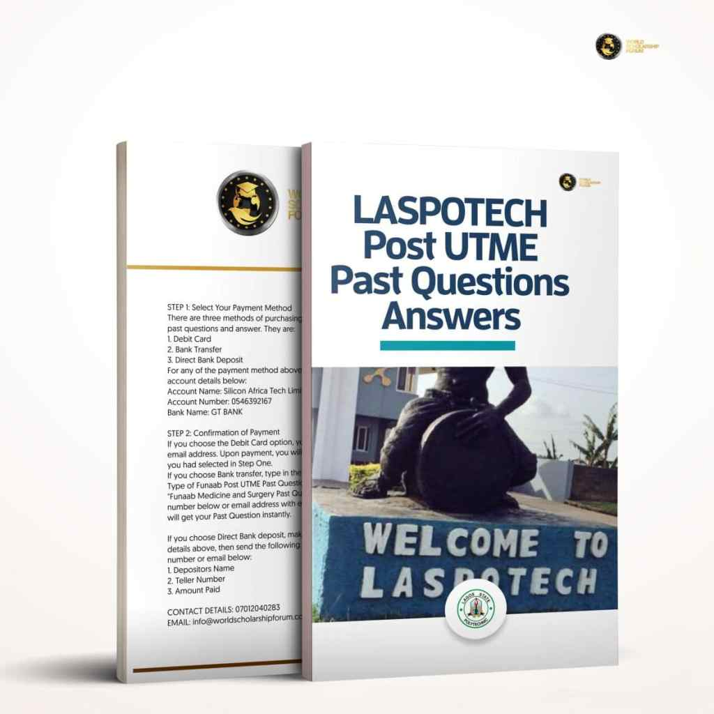 LASPOTECH Post-UTME Past Questions And Answer |2020