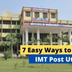 7 Easy Ways to Pass IMT Post Utme exam
