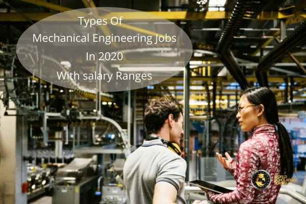 types of mechanical engineering jobs in 2020 with Salary ranges