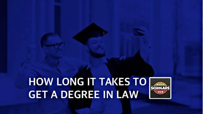 How Long does it take to Obtain a Degree in Law?