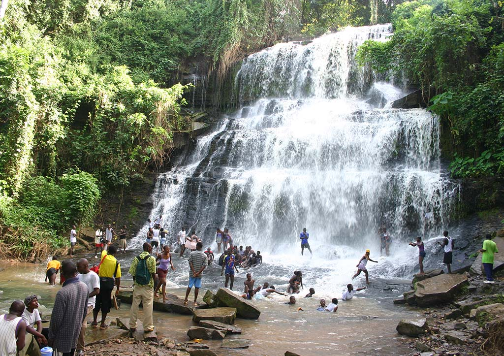 Boti Falls is one of the most visited falls in Ghana