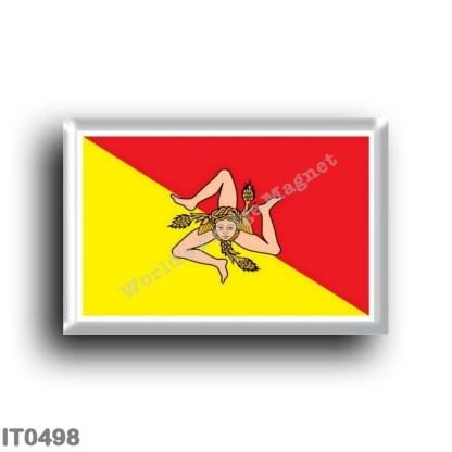 IT0498 Europe - Italy - Sicily - Flag