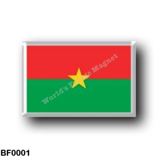 BF0001 Africa - Burkina Faso - Flag