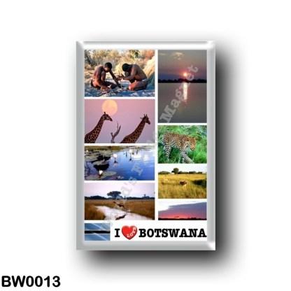 BW0013 Africa - Botswana - I Love
