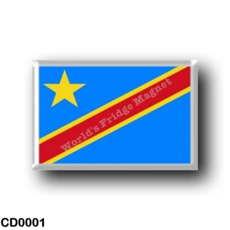 CD0001 Africa - Democratic Republic of the Congo - Flag