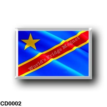 CD0002 Africa - Democratic Republic of the Congo - Flag Waving