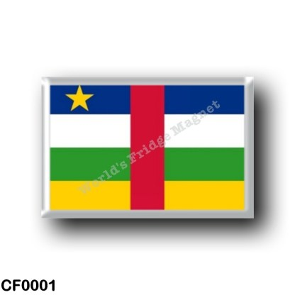 CF0001 Africa - Central African Republic - Flag