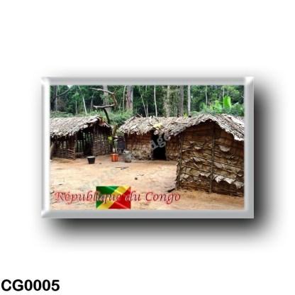 CG0005 Africa - Republic of the Congo - Maison de Pygmée