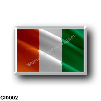 CI0002 Africa - Ivory Coast - Flag Waving