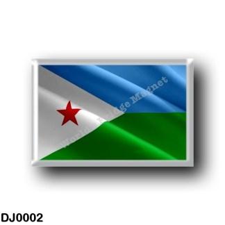 DJ0002 Africa - Djibouti - Flag Waving