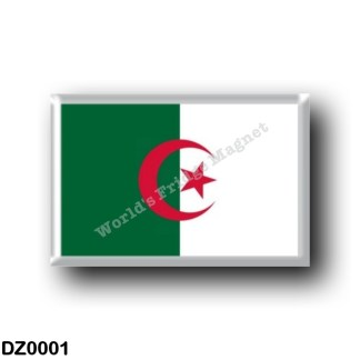 DZ0001 Africa - Algeria - Flag Algeria