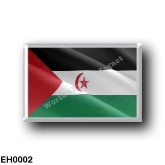 EH0002 Africa - Western Sahara - Flag Waving