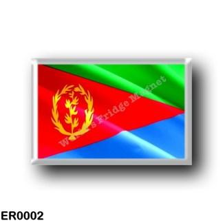 ER0002 Africa - Eritrea - Eritrean Flag - Waving