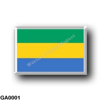 GA0001 Africa - Gabon - Gabonese Flag
