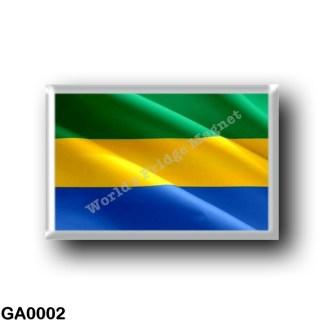 GA0002 Africa - Gabon - Gabonese Flag - Waving