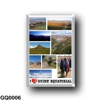 GQ0006 Africa - Equatorial Guinea - I Love
