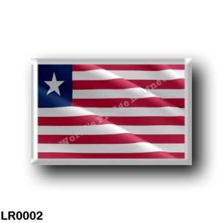 LR0002 Africa - Liberia - Flag Waving