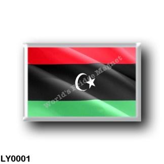 LY0001 Africa - Libya - Flag Waving