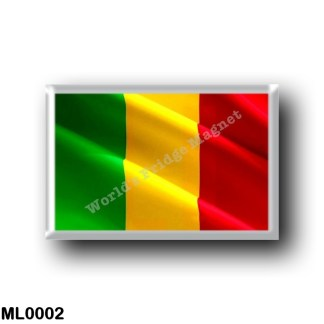 ML0002 Africa - Mali - Flag Waving