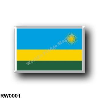 RW0001 Africa - Rwanda - Flag