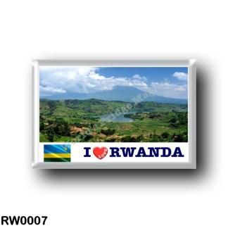 RW0007 Africa - Rwanda - Virunga Mountains - I Love