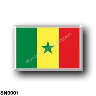 SN0001 Africa - Senegal - Flag