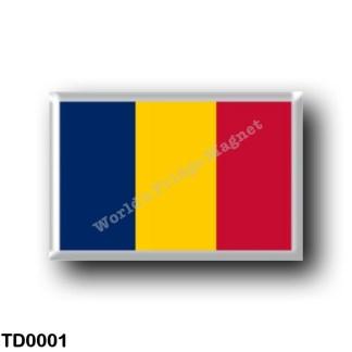 TD0001 Africa - Chad - Flag
