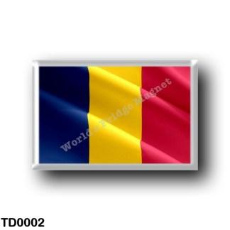 TD0002 Africa - Chad - Flag Waving