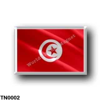 TN0002 Africa - Tunisia - Flag - Waving