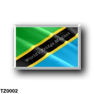 TZ0002 Africa - Tanzania - Flag waving