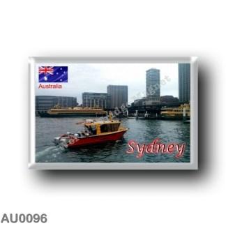 AU - Melbourne - Panorama rectangular refrigerator magnet