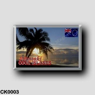 CK0003 Oceania - Cook Islands - Aitutaki sunset