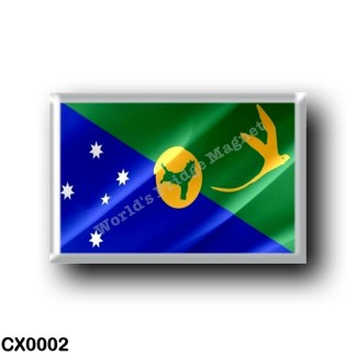 CX0002 Oceania - Christmas Island - FLag Waving