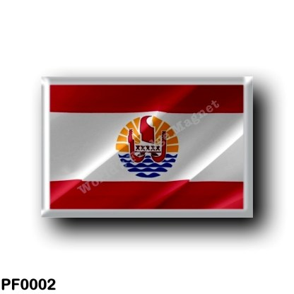 PF0002 Oceania - French Polynesia - Flag Waving