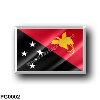 PG0002 Oceania - Papua New Guinea - Flag Waving