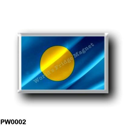 PW0002 Oceania - Palau - Flag Waving