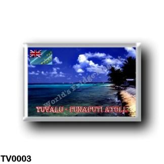 TV0003 Oceania - Tuvalu - Funafuti Atoll Beach