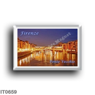 IT0659 Europe - Italy - Tuscany - Florence - Ponte Vecchio by Night