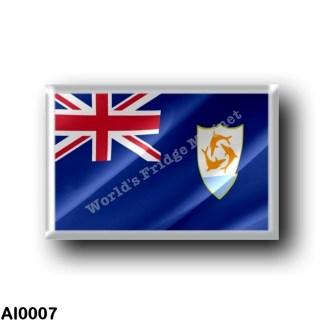 AI0007 America - Anguilla - Flag Waving