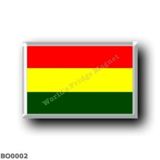 BO0002 America - Bolivia - Flag