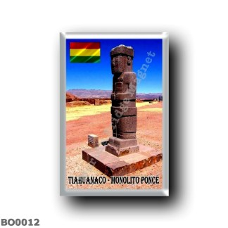 BO0012 America - Bolivia - Tiahuanaco - Monolito Ponce
