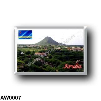 AW0007 America - Aruba - Hooiberg Piedra Plat Von Casibari